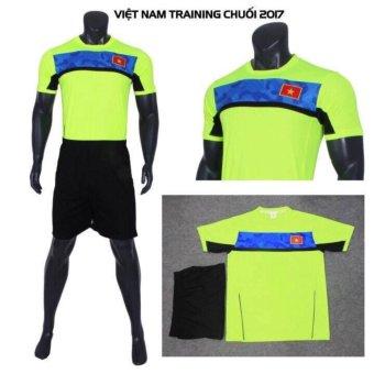 Bộ Đồ Đá Banh Việt Nam Training 2017 CPSports (Xanh chuối)