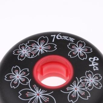 BolehDeals 4 Pieces Inline Roller Hockey Fitness Skate Replacement Wheel 84A 76mm Black - intl