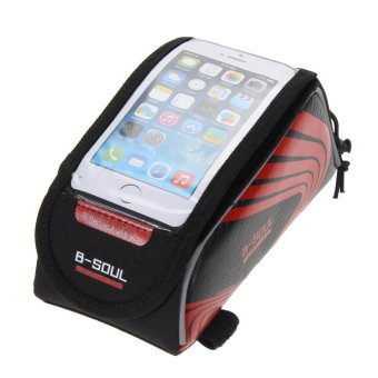 Cycling Frame Front Tube Waterproof Mobile Phone Bag(Red) - Intl -intl