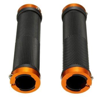 Double Lock On Locking Handle Bar Grips Gear For BMX MTB Mountain Bike Bicycle - intl