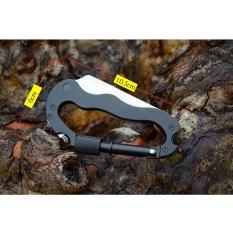 Dụng cụ du lịch dao và tua vít kèm móc khóa đa năng.