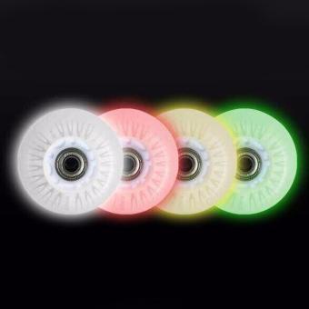 Fancyqube LED Light Inline Sliding Flash PU Roller Skate Wheels 80mm 90A - intl