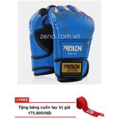 Bảng Giá găng tay đấm bao cát / MMA Wolon (xanh)+ tặng băng quấn tay