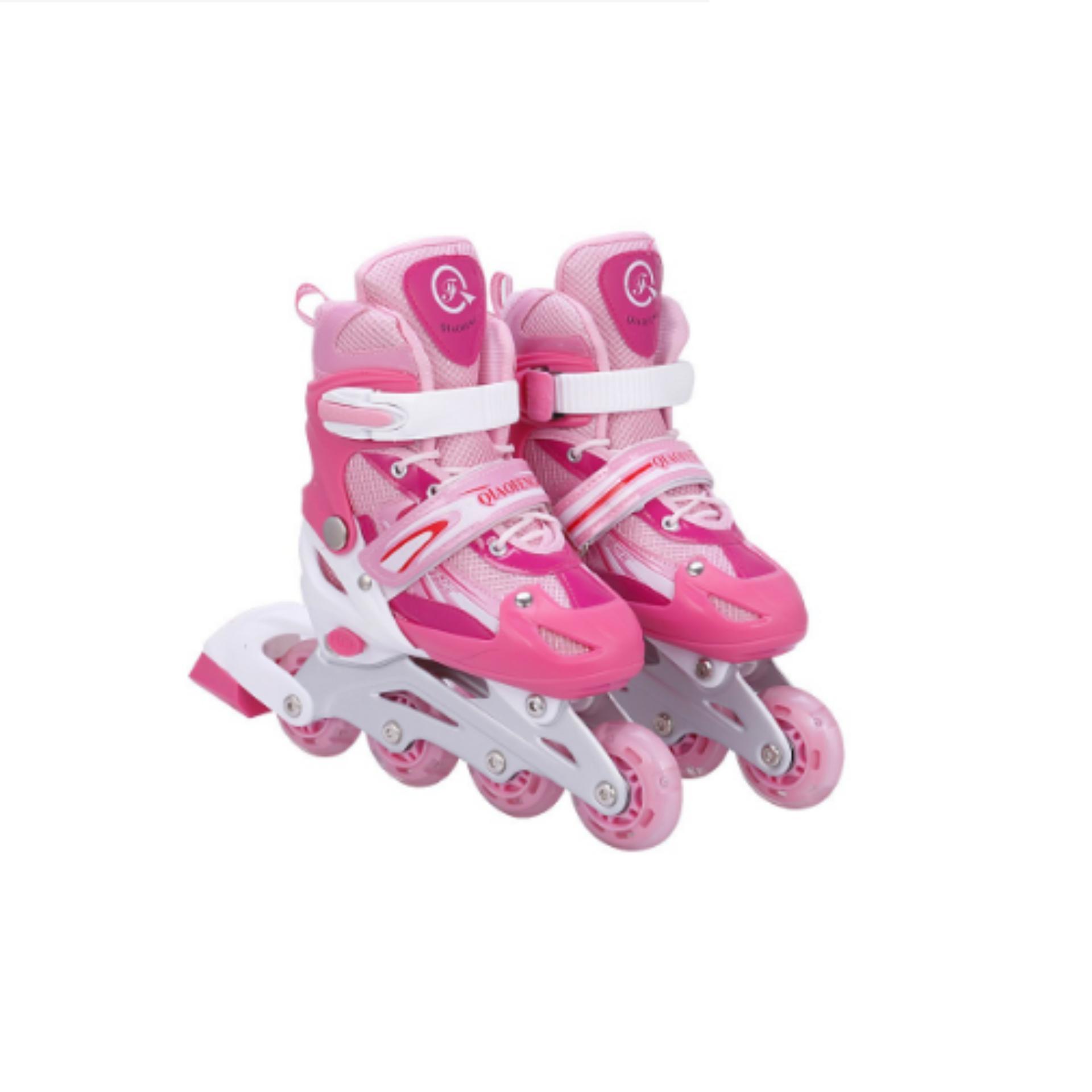 Giày trượt patin đinh tán phát sáng ( màu hồng)