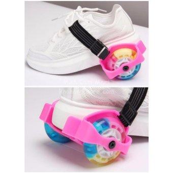 Giày trượt patin phát sáng 2 bánh thế hệ mới + Tặng 1 túi dây rút để đồ tập cao cấp SYT-83