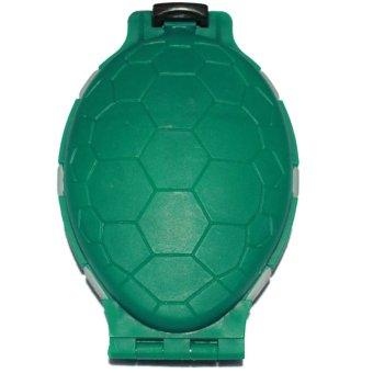 Hộp đựng lưỡi câu hình con rùa (Xanh lá)