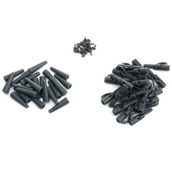 20Sets Fishing Lead Clips Carp Fishing Tackle Tools with Pins Tail Tubes - intl