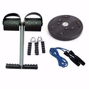 Bộ 4 món dụng cụ tập thể dục đa năng Tummy (Đen)