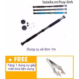 Dụng cụ xà đơn gắn cửa tùy chỉnh 1m + Free dụng cụ gắp mắt dứa