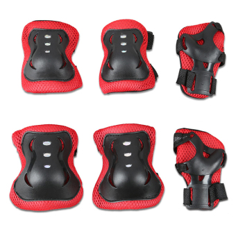 Bộ 6 miếng bảo vệ tay và chân cho bé chơi thể thao (Đỏ)