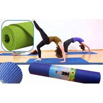Thảm Tập Yoga Cao Cấp Kèm Túi Đựng (Xanh)