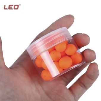 LEO 30pcs Bean Shape EPS Foam Float Ball for Outdoor(Orange) - intl