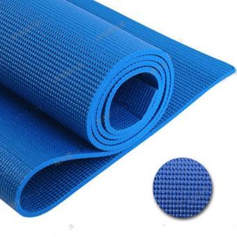 Thảm tập Yoga chống trơn 6mm +Tặng túi đựng thảm GocgiadinhVN(Xanh lam đậm)