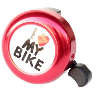 Chuông Xe Đạp I Love My Bike (Đỏ)