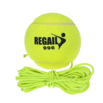 Natural Rubber Synthetic Wool Fiber Tennis Ball Dog Training Tennis Ball With String - intl