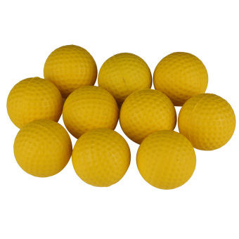 10PCS Golf Indoor Beginners Practicing Balls Soft Training Ball PU Yellow (Intl)