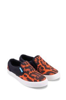 Giày lười nữ QuickFree LIGHTLY W130210-008 (Đen phối Cam)