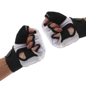EVA Pad Taekwondo Hand Protector Gloves Karate Sparring Boxing Gear White L - Intl