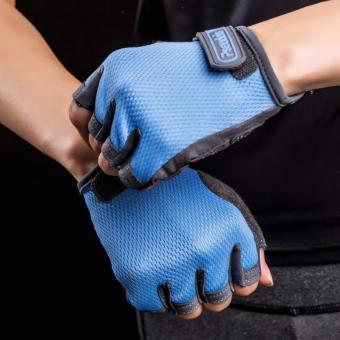 Găng tay tập gym Nam Nữ Pseudois (Xanh)