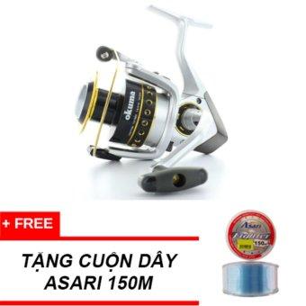 Máy Câu Cá Okuma Spinning Reel Safina Pro Spa80 4bb+ tặng dây câu Asari fighter 150m