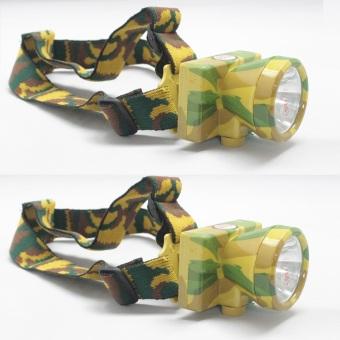 Bộ 2 Đèn pin sạc đội đầu Smart Store A2 (rằn ri)