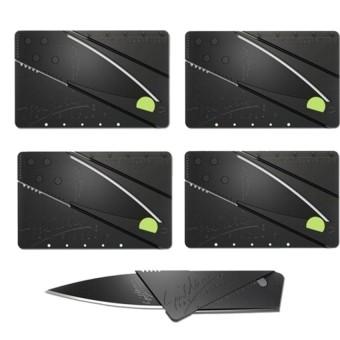 Bộ 4 dao xếp hình ATM bỏ túi Huy Tuấn Knife ATM (Đen)
