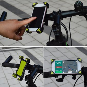 360° Universal Motorcycle Bike Bicycle Handlebar Mount Holder For Cell Phone GPS Green - intl