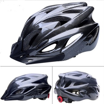 Mũ bảo hiểm thể thao sợi Carbon dành cho xe đạp (Đen)