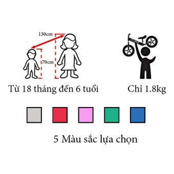 Babybum - Xe cân bằng nhôm 1.8kg (Đỏ)