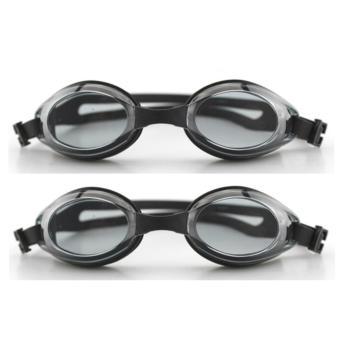 Bộ 2 kính bơi cao cấp cho bé + bịt tai, bịt mũi (Đen)