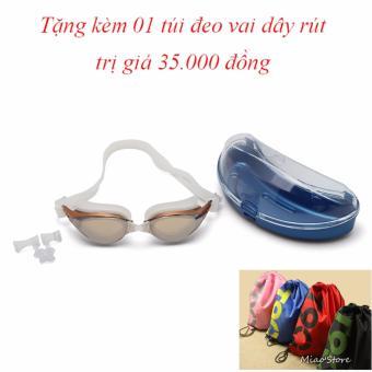 Kính bơi Shenyu tráng bạc tặng kèm túi đeo vai dây rút tiện lợi