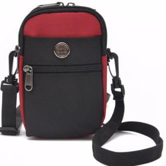 Túi đeo đai quần thắt lưng có móc khóa + Tặng dây Đeo chéo đa năng H142 (Đỏ)