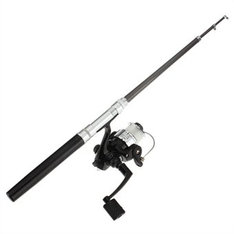 Pocket Pen Fishing Rod Pole Reel + Nylon Line Set (Intl)