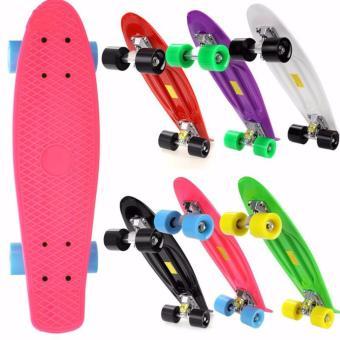 Ván trượt skate nhập khẩu cao cấp - tiêu chuẩn thi đấu (Hồng)