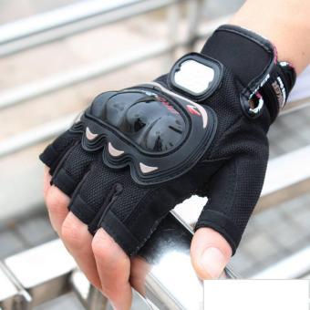 Găng tay cụt ngón Proo-Bibiiker P130C (Đen)