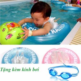 Bộ phao bơi chống lật và kính bơi cho trẻ