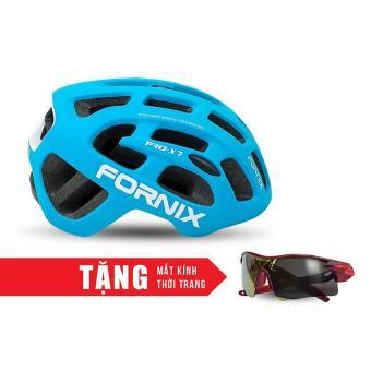 Nón bảo hộ cho người đi xe đạp FORNIX A02NX7 (Xanh dương) + Tặng Mắt kính thời trang