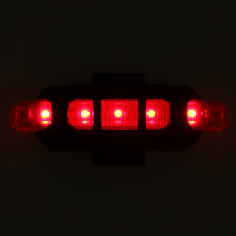 Rear 5 LED Bicycle Cycling Tail USB Rechargeable Red Warning Light Bike - intl