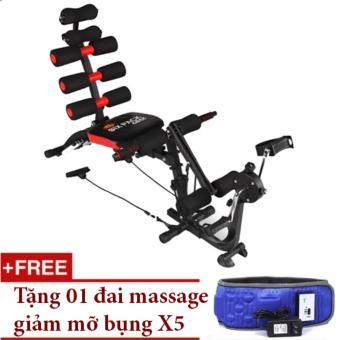 Máy tập cơ bụng đa năng New Six Pack Care + Tặng đai massage giảm béo bụng X5