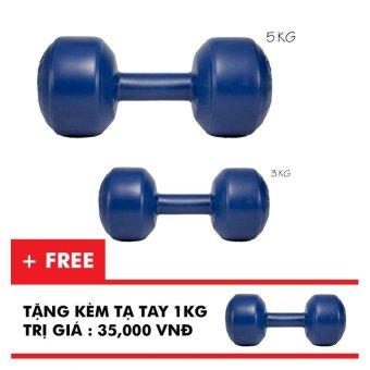 Bộ tạ tay VN 3kg, 5kg (Tặng tạ tay 1kg)