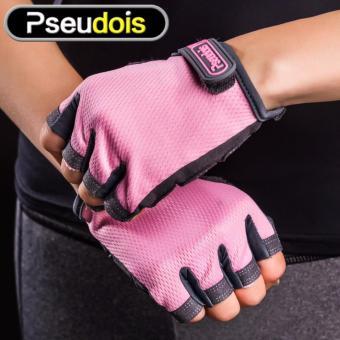 Găng tay tập gym Nam Nữ Pseudois (Hồng nhạt)