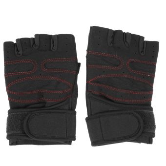 WeightLifting Gym Gloves Workout Wrist WrapSports ExerciseTraining Fitness - intl