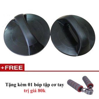 dụng cụ hít đất đĩa xoay push up pro free bóp cơ tay