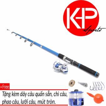 Bộ Cần Câu KHP Blue New 2m4 + Tặng Kèm 5 Phụ Kiện