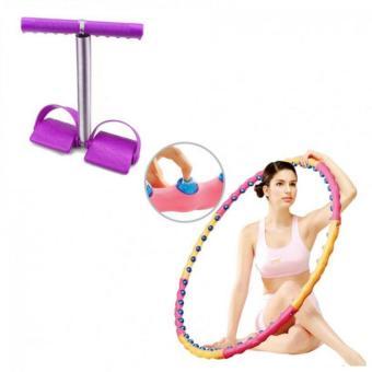 Bộ vòng lắc eo giảm cân hoạt tính massage và dây tập cơ bụng .