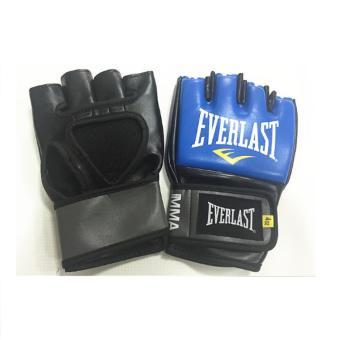 găng tay hở ngón tập luyện MMA Everlast ( xanh đen)