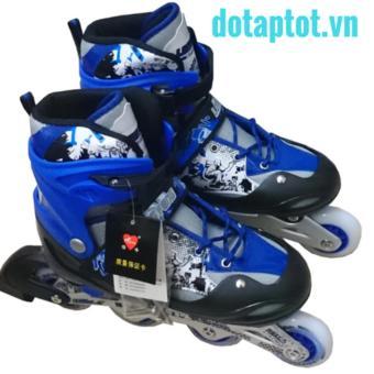 Giày trượt Patin Long Feng 906 - Xanh