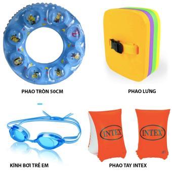 Bộ dụng cụ bơi lội trẻ em (Kính bơi, Phao tay, phao lưng, Phao bơi tròn)