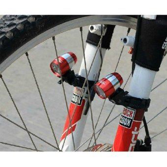 6 Waterproof Cycling Safety Head Light Bicycle Flash light Tail Light