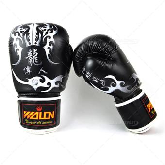 Găng tay boxing wolon thi đấu W8550 (Đen)